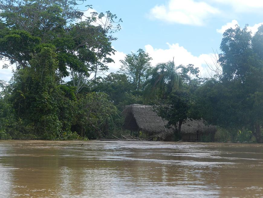 Vivienda de la comunidad Chimán